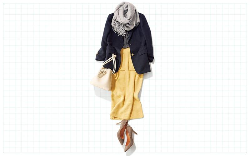 ジャケットスタイルは華やか色投入で女度UP【真冬の着回しDiaries Part⑥】
