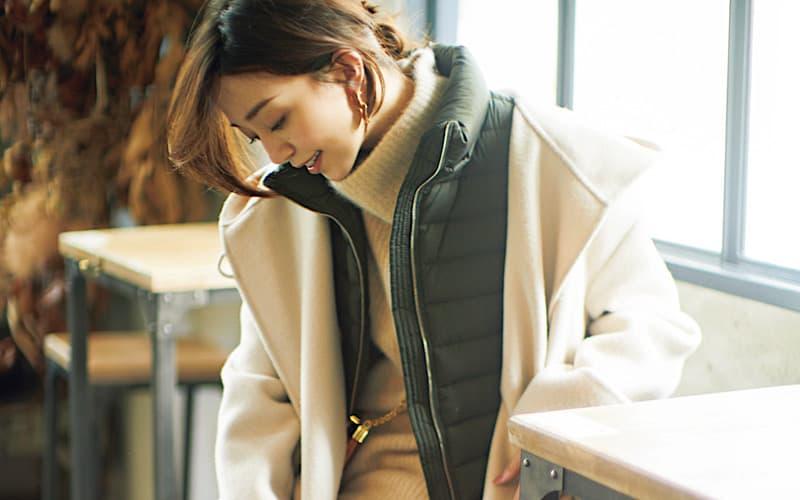 【今日の服装】オシャレと話題!インナーダウン×コートの組み合わせって?【アラサー女子】