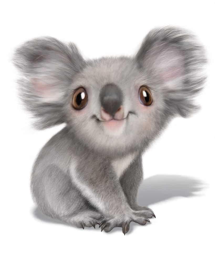 可愛らしいコアラのイラストが描