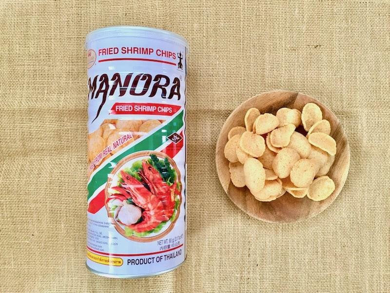 ■アジアン料理店でおなじみのエビせんが、手軽に食べられるスナックに