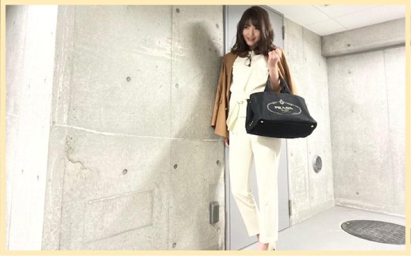 【広告代理店OL】収納力バツグン!プラダの優秀バッグで通勤コーデ