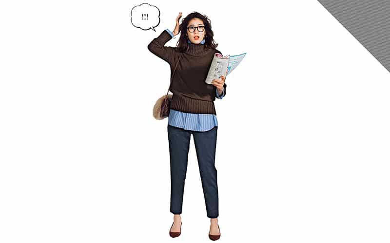 タートルネックからシャツをチラリ、簡単テクでマンネリ打破【真冬の着回しDiaries Part③】
