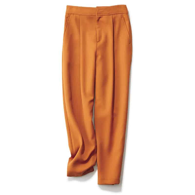 【O】キャメルのテロ素材パンツ