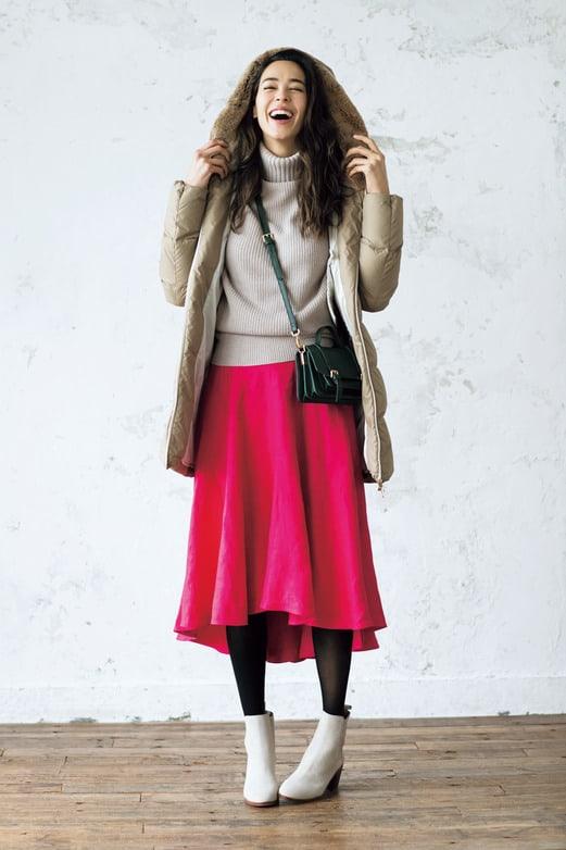 2月→4月までずっと着られる「キレイ色スカート」着回し術【ピンク&ベージュ編】