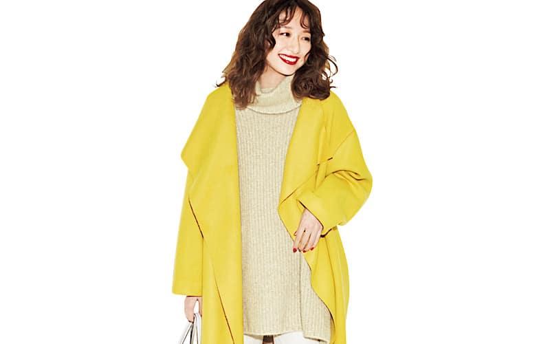【今日の服装】派手色コートなのに大人っぽく着こなす配色って?【アラサー女子】