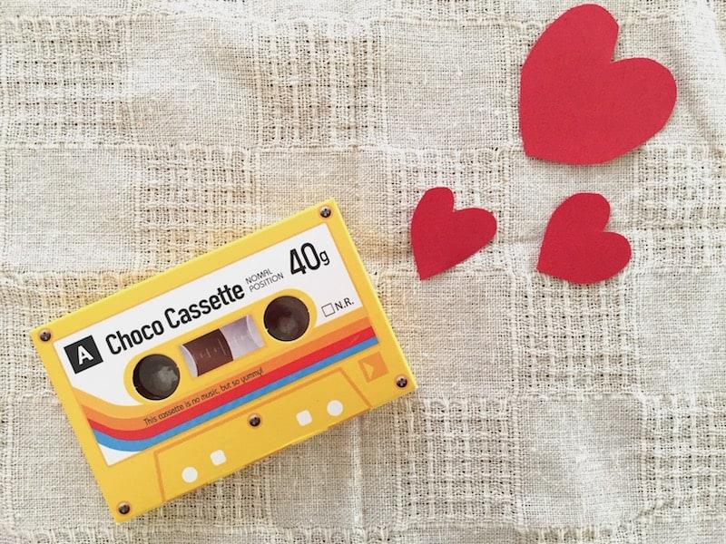 ■懐かしのカセットテープもチョコに