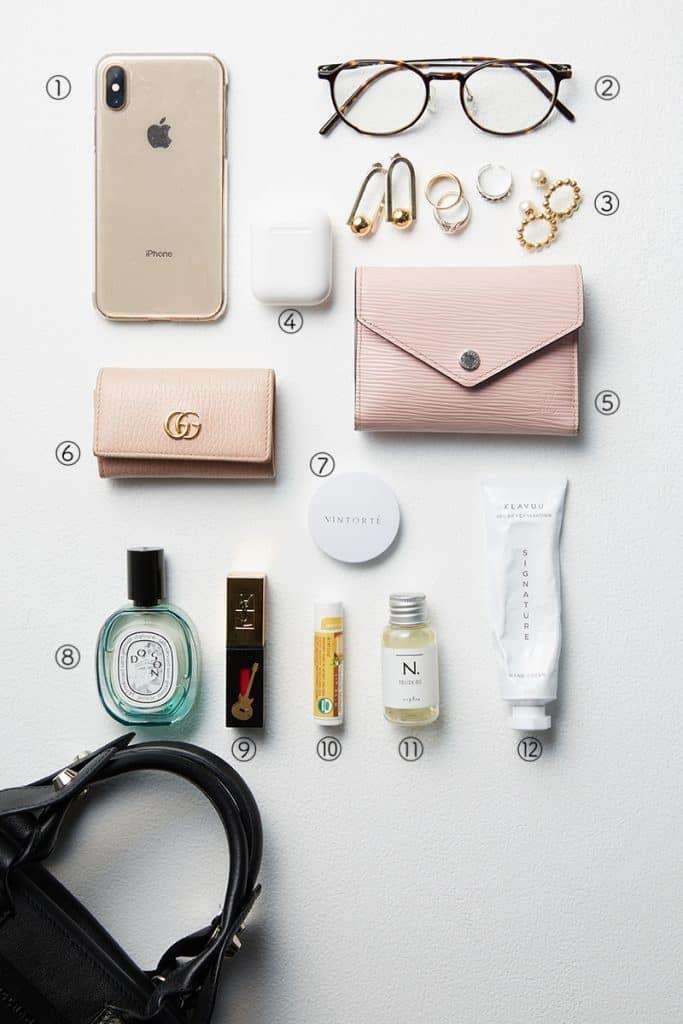①iPhoneはレザー小物と統