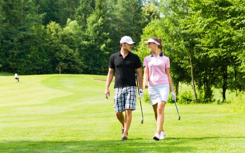 ゴルフスクールの仲間と…