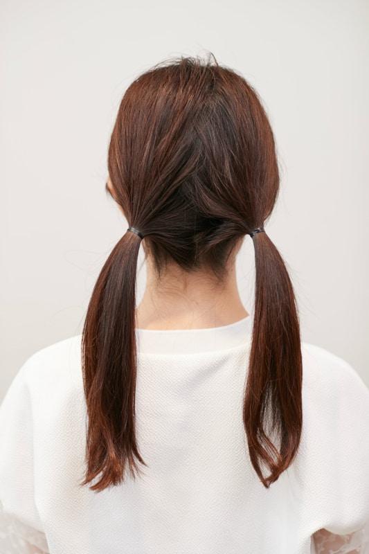 ロングの場合は、「長い毛先をき