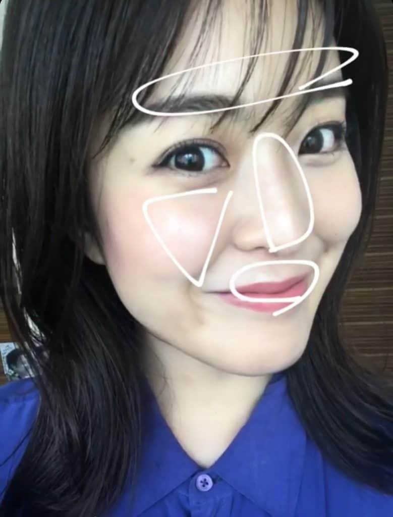 白丸の部分(眉上、鼻筋、頬、口