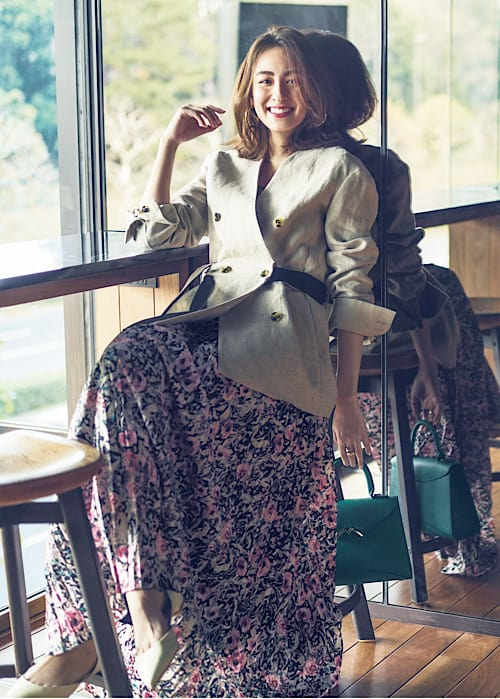 【今日の服装】花柄スカートが子供っぽく見えないコーデとは?【アラサー女子】