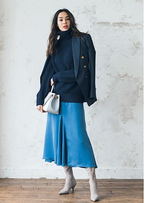 【今日の服装】紺ブレが劇的にオシャレに見える配色知ってる?【アラサー女子】