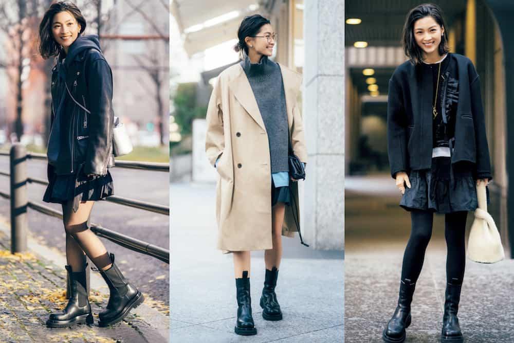 アラサー女子の「ブーツ×スカート」コーデSNAP3選