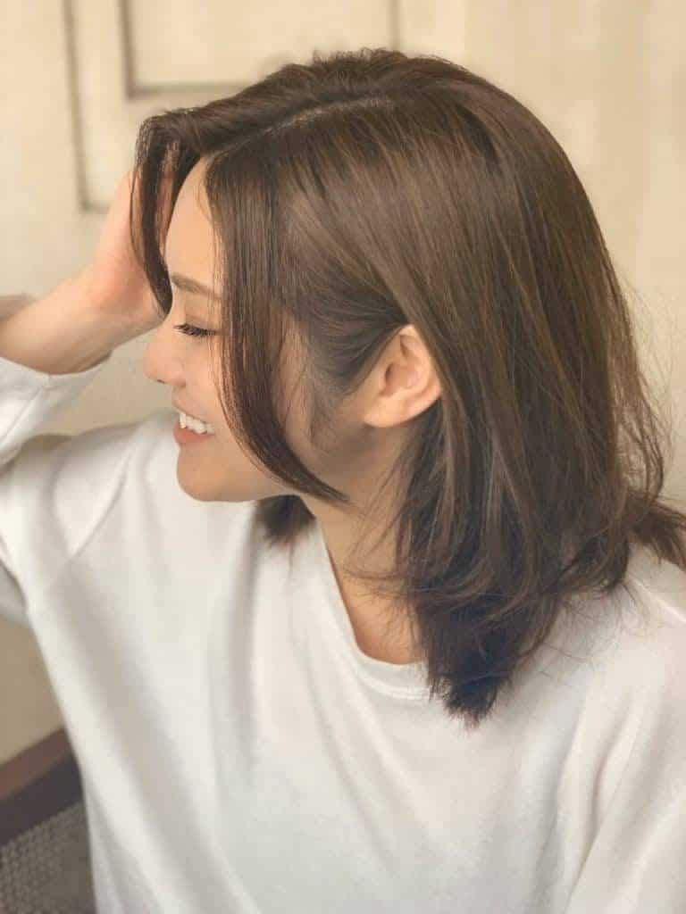 「最初に熱から髪を守るために、