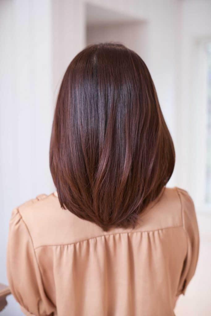 厚めの前髪を下ろした「フルバン