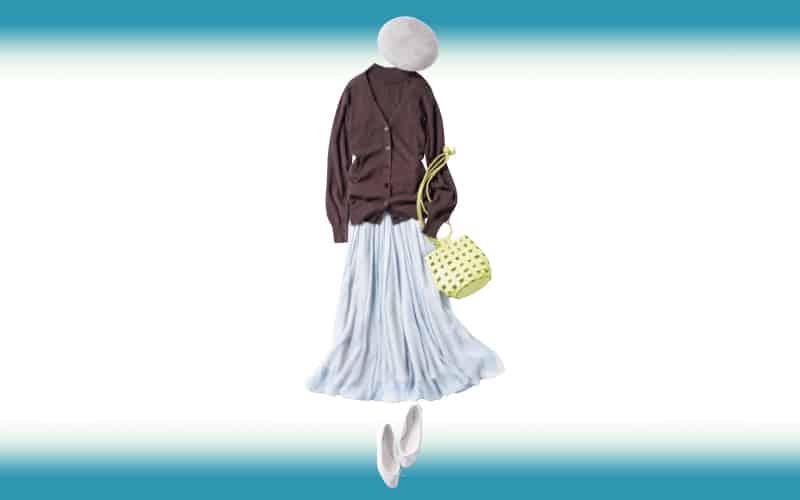 アンサンブルとスカートは色選びで今っぽさをプラスして【今日の着回しDiary】