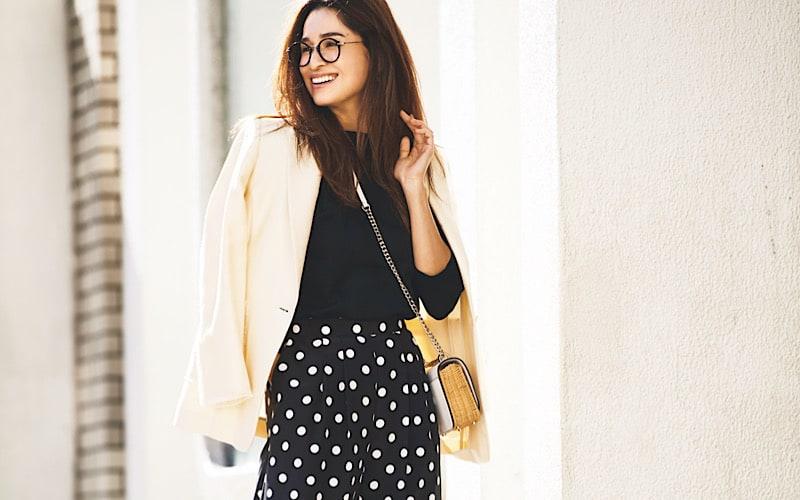 【今日の服装】柄アイテムを簡単に大人っぽく見せるには?【アラサー女子】