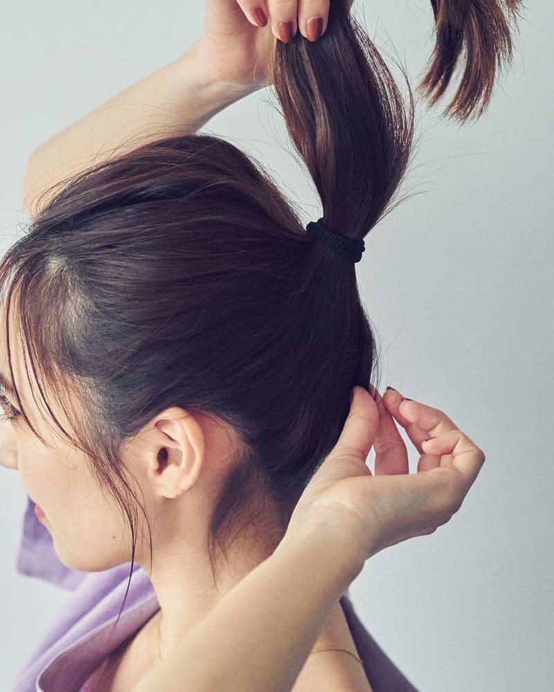 ちょっと恥ずかしいときは後れ毛