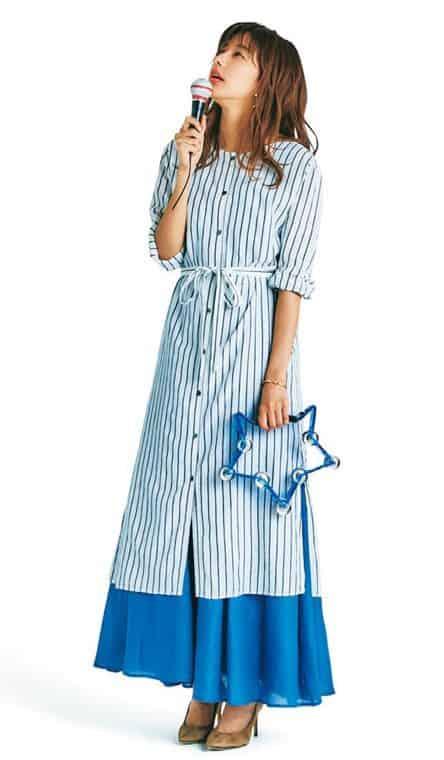 ロングスカートとシャツワンピー