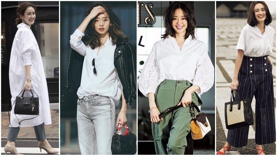 大人の女性におすすめ「白シャツ」コーデ31選【パンツ・スカート・デニム・ジャケットなど】人気アイテムの着こなしテクも