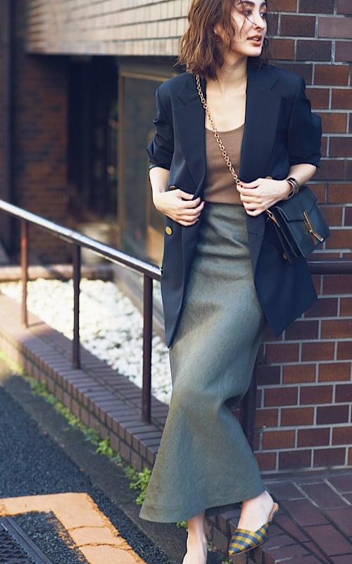 【今日の服装】ジャケットとスカートの最旬の着こなし方って?【アラサー女子】