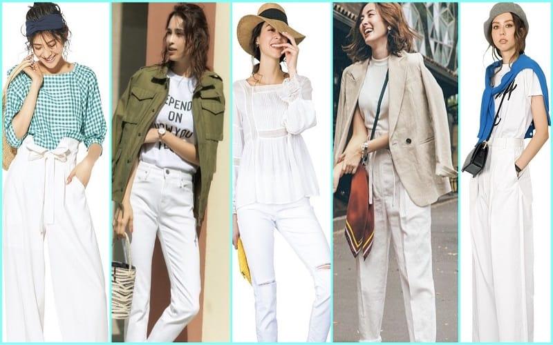 春夏におすすめの「白パンツコーデ」52選|シーン別の着こなし【2020年最新版】