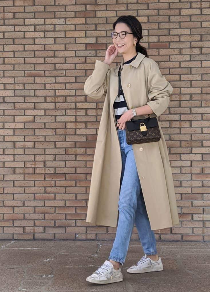 春、2大使えるアイテムはベージュアウターと白い靴で決まり!【ファッションインスタグラマーが伝授】