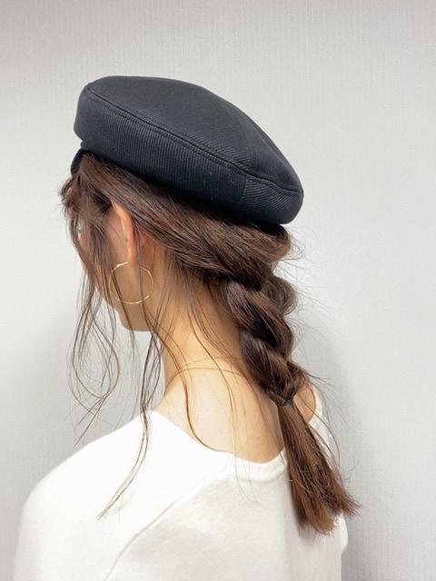 続いて、【休日編】。 休日は帽