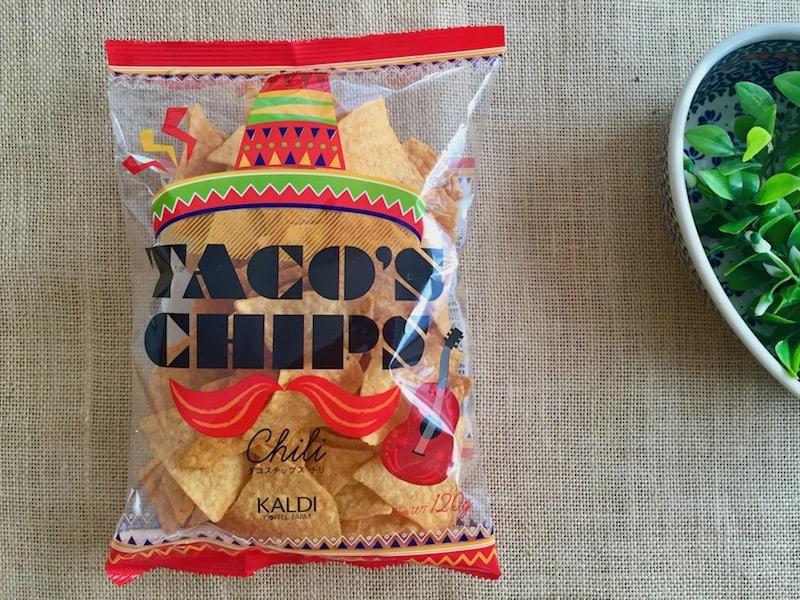 ■辛さ控えめ、まろやかチリ風味のタコスチップス