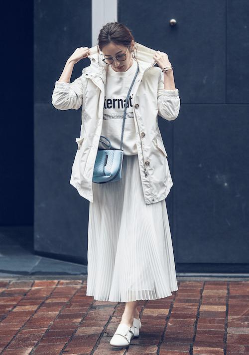 フェミニンなプリーツスカート