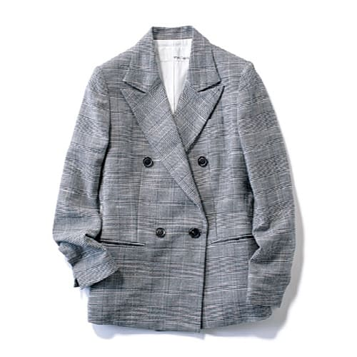 旬のジャケットに合わせた コー