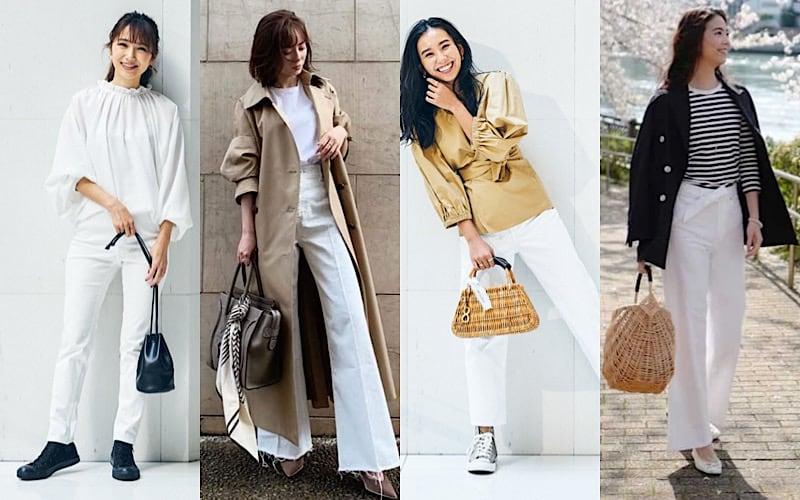春のあか抜けコーデには「白ボトムス」が効くって本当?読者モデルの着こなし9選