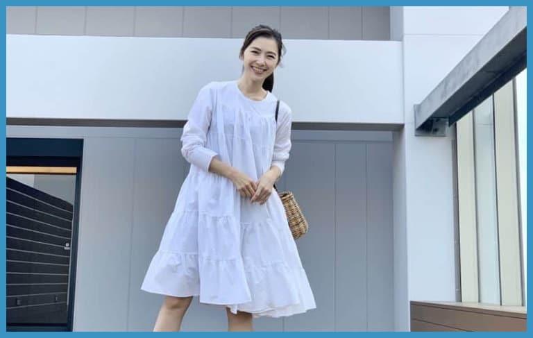 Sサイズが一番似合う、トレンドのひざ丈ワンピコーデ【156㎝モデルの私服】