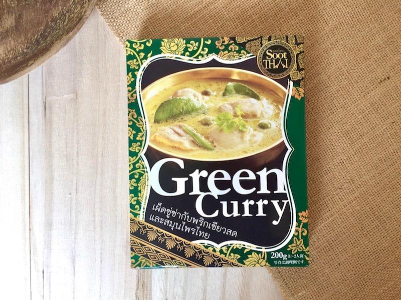 ■定番グリーンカレーは、辛さも具材も本格派な一箱をチョイス
