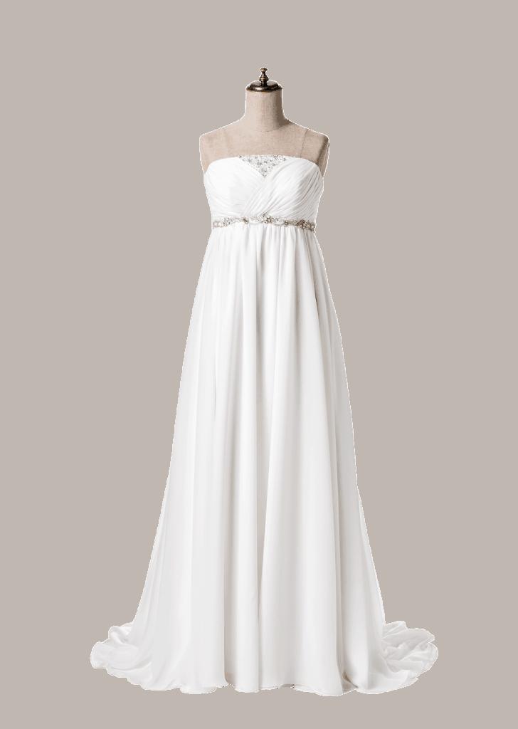 重厚感のある空間で撮ればドレス
