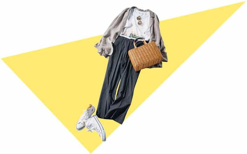 グレーの柔らかいジャケットは上品カジュアルの強い味方【今日の着回しDiary】