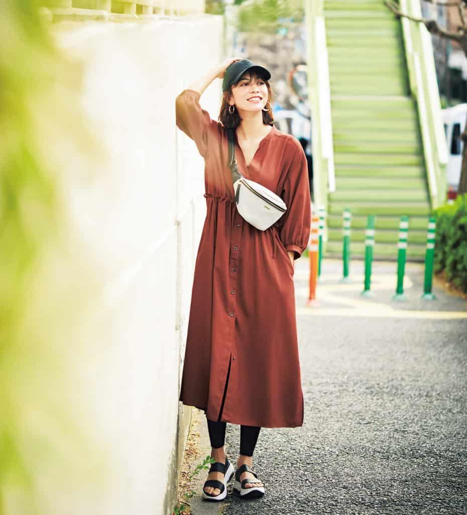七分袖シャツワンピース ¥15