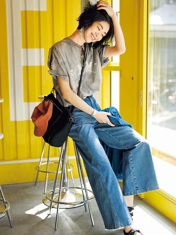 【今日の服装】おうちでもゆったり履けるデニムコーデの正解は?【アラサー女子】