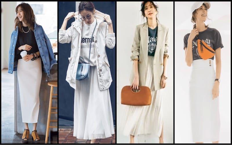 白スカートコーデ50選【2020春夏】プリーツ、タイト etc.大人女子に似合うキレイめカジュアルスタイル