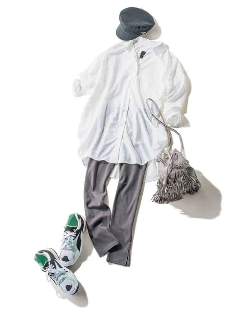 白シャツ ビッグシャツ¥8,9