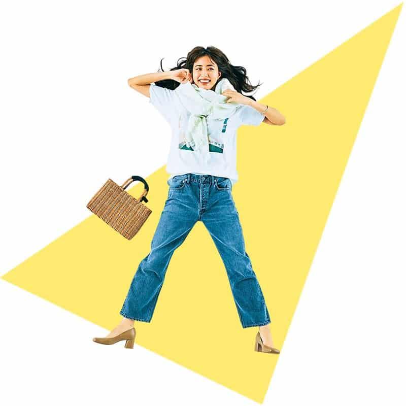 ボリューミーなストールでTシャツコーデに華やぎを【今日の着回しDiary】