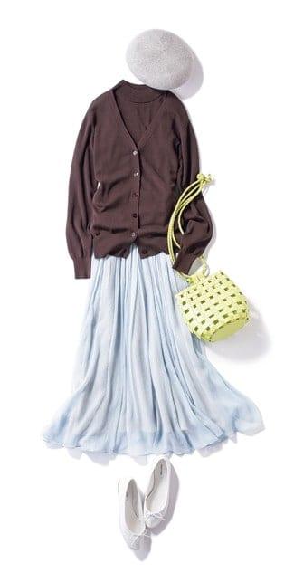 トレンドのキレイ色スカートには