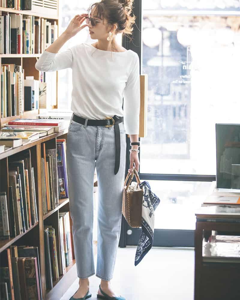 【今日の服装】定番の白T×デニムコーデ、マンネリを抜け出すには?【アラサー女子】