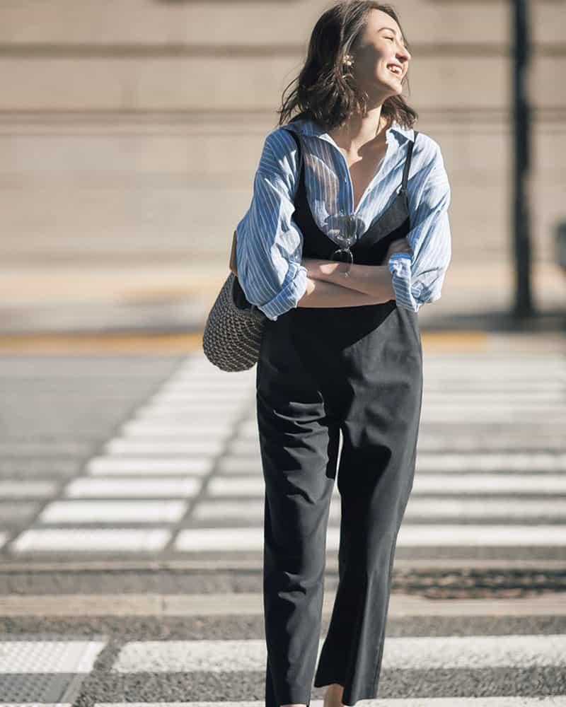 【今日の服装】「おばさん感」を出さないオールインワンコーデのコツは?【アラサー女子】