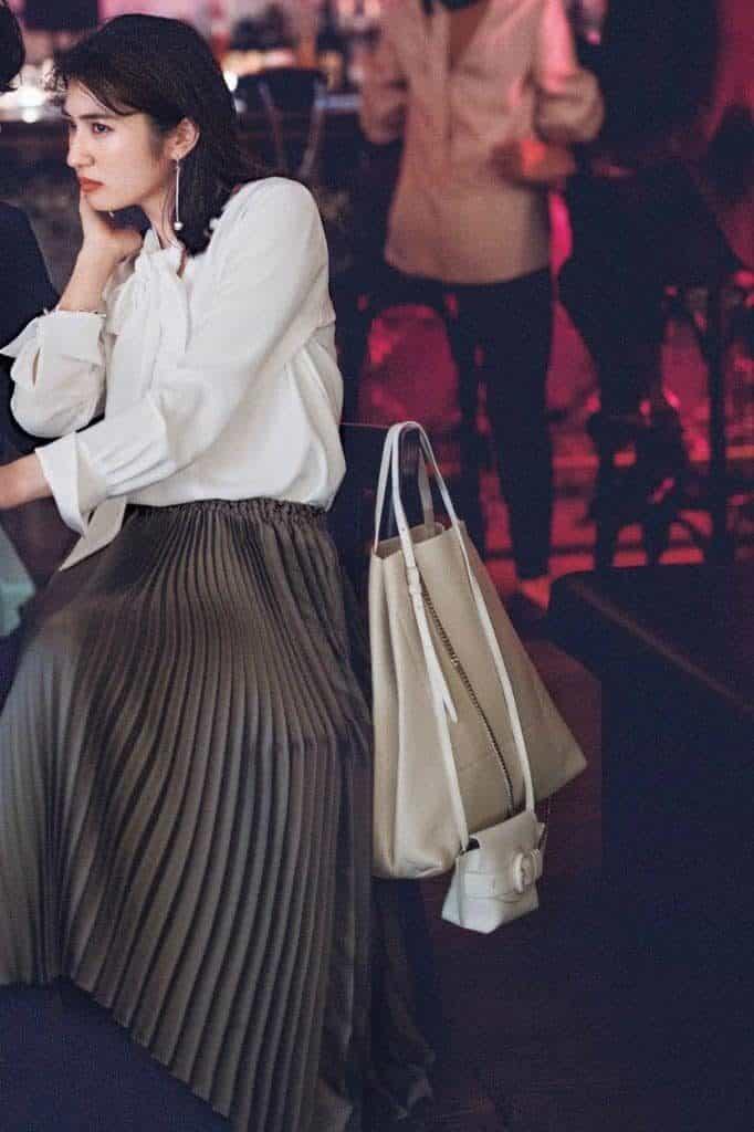 トレンドのプリーツスカートもブ