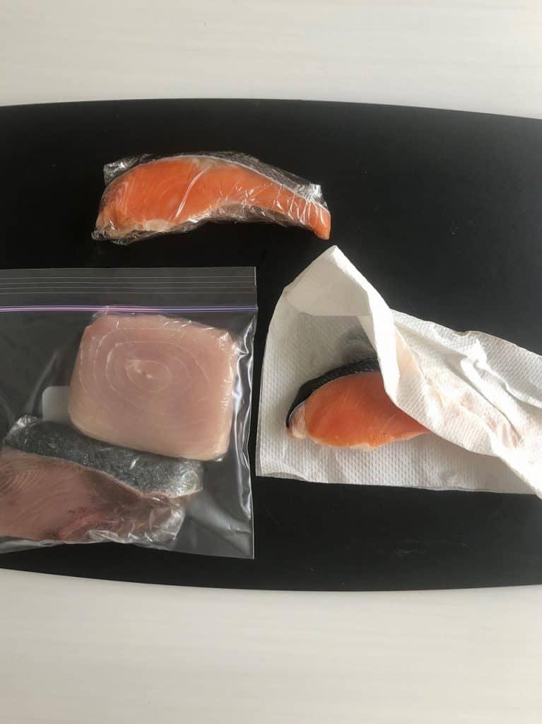 ※肉や魚、えびは冷蔵庫で解凍し