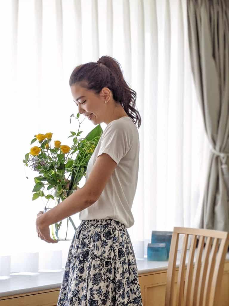 8:50 お花を愛でる 自粛生