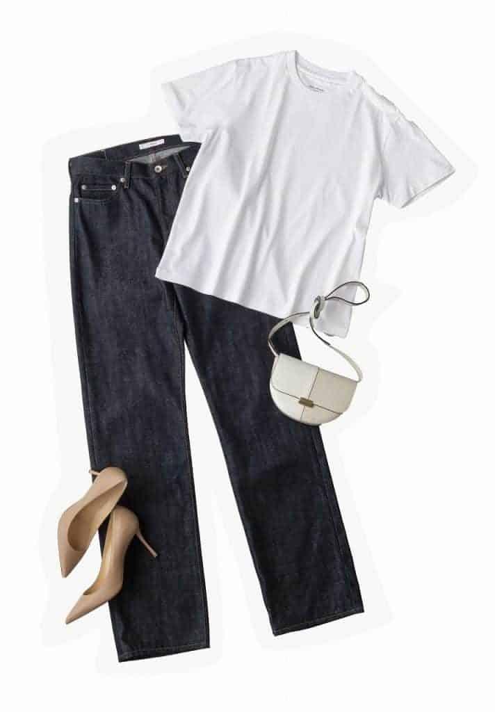 Tシャツ&デニムのコーディネー