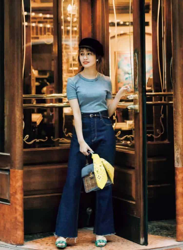 Sサイズ女子の「Tシャツとデニム」スタイルアップ計画【②ピタ×ゆるコーデ】