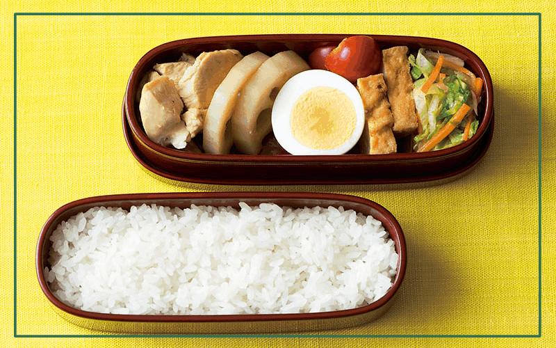 毎日お弁当レシピ「鶏肉とれんこんの煮物弁当」【木曜日】|自炊ランチで健康に